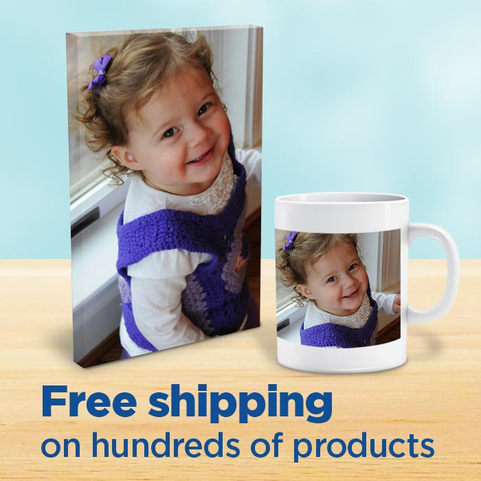 free shipping on photo gifts